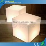 Modern light up furniture cube hotel furniture GKC-040RT