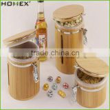 Best Selling OEM Personalized Bamboo Food Jar with Bamboo Airtight Lid /Homex_Factory