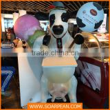 Vivid Life-size Marketing Decoration Milk Cow Statue
