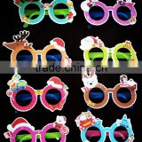Christmas creative promotional gift paper plastic children fake lensless safety kids glasses
