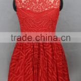 fashion crochet young girl popular bubble skirt red dress