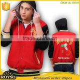 Custom Made Men Hoody Football Team Club Baseball Varsity Bomber Letterman College School Bulk Jacket with Hoodies Wholesale