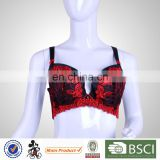 profession custom made stylish hot fancy bra and panty set cover up embroidery mesh padded bra and panty set