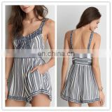 MIKA72032 Wholesale V-neck Sexy Embellished Jumpsuit Romper For Women