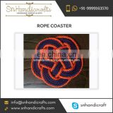 Navy Blue Handmade Nautical Rope Coaster at Low Market Price