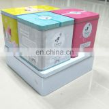 set of square tin box