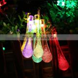 LED Water Drop Solar String Fairy Waterproof Lights Christmas Lights Solar Powered String lights for Garden, Patio, Yard HNL213S