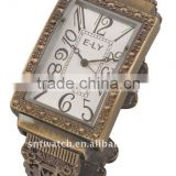 Antique style alloy bangle wrist watch