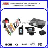 Two way Remote engine start car alarm with LCD warning dispaly, up to 2000 meters, made in China