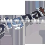 Famous brand metal label design, custom manual exquisite metal letter sticker for furniture,household appliances