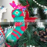 Christmas knitted Boots ornament Handmade
