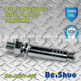 BS-AN07-001 carbon steel bolt anchor zinc plated