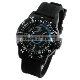 2014 New Design Black Military Style Men's Fashion Rubber Wrist Watch MR080