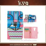Best selling customized pattern printing pu for LG G3 Mini flip phone cases