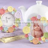 Cute lovely colorful rainbow button photo frame baby shower gift to your guest