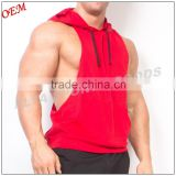 Bodybuilding Stringer Fitness Hoody Tank Top Sleeveless 100% Polyester Men Sport Wear Hoody                                                                         Quality Choice