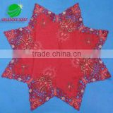 100% polyester christmas embroidery table cloth with cutwork houseware household textile