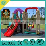 2016 New Plastic slide small playground, children outdoor playground indoor playground sets