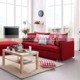 Hot selling top quality red or blue color fancy fabric sofa bed