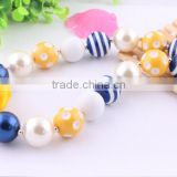 Wholesale!! DIY cheap chunky acrylic bubblegum beads necklace, flower pendant statement necklace ! for kids birthday!!