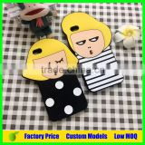 Korea Girl and Boy silicone mobile phone case cover for Huawei ascend mate 8 mobile case cover
