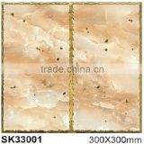 Gold-plated glazed ceramic floor tile ,glazed tile 300*300