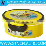 1litre Manufacturer promotion funky easy plastic oval lunch boxes                                                                                                         Supplier's Choice