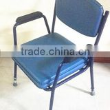 PU armrest pad commode chair adjustable height hospital chair for elderly