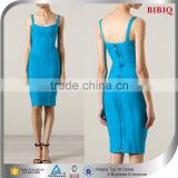 Latest Blue Bandage Celebrity Club Dress