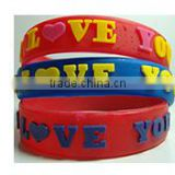Bulk cheap debossed, embossed wristband customize silicone bracelet/silicone rubber wristband bracelet