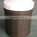 Outdoor indoor cylinder wicker rattan stool / rattan footrest