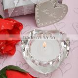 elephant heart shape crystal candle holder
