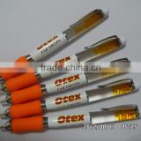 Wholesale Liquid ballpoint pens with OEM floater and silicone handle fashion floating liquid pens for gifts