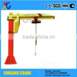 Rotating Floor Jib Crane With Wire Rope Hoist Pillar Crane