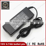 AC Adapter Laptop charger output 19V 4.74A 90W 4.8*1.7mm bullet pin For HP Compaq 6820s nc8230 nx8220 6520s Notebook PC