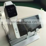Shenzhen factory Smarto Dual aluminium for apple watch charging stand,for apple watch charge stand for apple watch charger stand