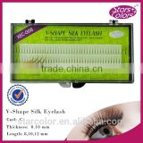 private label silk V black eyelash lashes Beauty knot-free lashes private label eyelash extensions