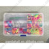 DIY Rubber Loom Bands Box with Accessories, Acrylic Charms and Iron Jump Rings(DIY-X0003-B)