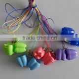 Plastic baby teeth box, colourful milk teeth container, primary teeth holder