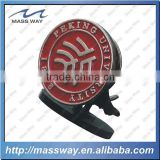 die casting zinc alloy custom fill in color round 3D metal pin badge
