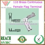 Brass Continuous 110 female flag Terminal