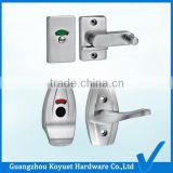 Wholesale Factory Directly Bathroom Accessories WC Cubicles Zinc Alloy Locking Door Handle