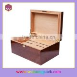 Handmade Cigar Box Hinge Wooden Cigar Packaging Box With Lid Hot-Selling