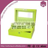 High Quality Wooden Jewelry Box For Ring Necklace Bracelet Set Earring With Two-Layer Wholesale