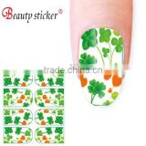 beauty sticker colored artificial french tip nail stickers