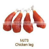 Chicken Leg with Dental Stick for Dog Dry Pet Snack Dry Pet Food Dog Treat Dog Training Treat