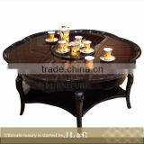 Luxury Living Room JT07-04 Ebony Veneer Pattern Coffee Table High-end Furniture Factory Price From China JT71-03 JL&C Furniture