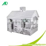 Paper Material Kids Paintable Cardboard House                                                                         Quality Choice