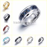 Fashion Design couple Engagement Ring stainless steel fashion rings for men