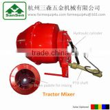 Tractor mixer for mixing feed,fertilizer,potting soil, 3pt implements category one hydraulic cylinder dump